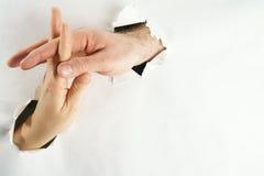 Fondo del amor de las manos Imagen de archivo
