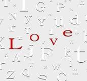 Fondo del amor del alfabeto ilustración del vector