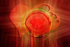 fondo del amor del Estallido-arte Imagenes de archivo
