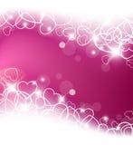 Fondo del amor hecho de los corazones blancos libre illustration