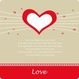 Fondo del amor para el día del `s de la tarjeta del día de San Valentín Foto de archivo