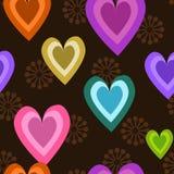 Fondo del amor y del corazón inconsútil Foto de archivo