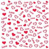 Fondo del amor y del corazón stock de ilustración