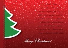 Fondo del applique del árbol de navidad Fotos de archivo