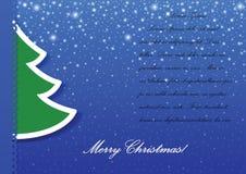 Fondo del applique del árbol de navidad Imagen de archivo libre de regalías