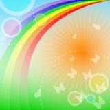 Fondo del arco iris stock de ilustración