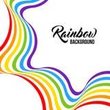 Fondo del arco iris, colores de LGBT ilustración del vector