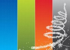 Fondo del arco iris de la Navidad Fotos de archivo libres de regalías
