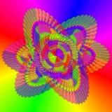 Fondo del arco iris del hex. Imagen de archivo