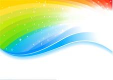 Fondo del arco iris del vector Imagen de archivo libre de regalías