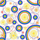 Fondo del arco iris. Inconsútil. Foto de archivo