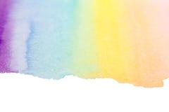 Fondo del arte de la acuarela del arco iris Fotos de archivo libres de regalías