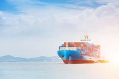 Fondo del astillero, fondo logístico de las importaciones/exportaciones fotografía de archivo