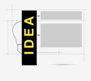 Fondo del asunto de la idea de la tecnología del bulbo del circuito Ilustración del Vector