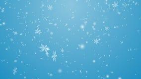 Fondo del azul de la animación que nieva