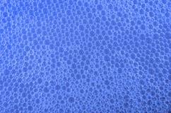 Fondo del azul de la burbuja Fotografía de archivo