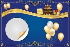 Fondo del azul de la celebración Imagen de archivo libre de regalías