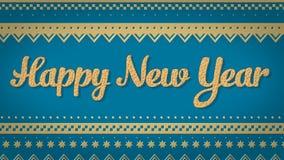 Fondo del azul de la Feliz Año Nuevo Fotografía de archivo