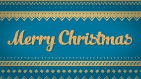 Fondo del azul de la Feliz Navidad Foto de archivo