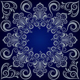 Fondo del azul de la mandala Foto de archivo libre de regalías