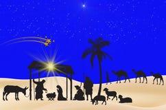 Fondo del azul de la Navidad Fotos de archivo
