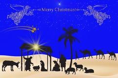 Fondo del azul de la Navidad Imagen de archivo libre de regalías