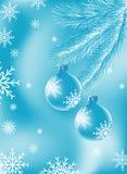 Fondo del azul de la Navidad Imagenes de archivo
