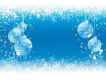 Fondo del azul de la Navidad Fotografía de archivo libre de regalías