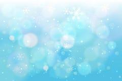 Fondo del azul de la nieve de las vacaciones de invierno imágenes de archivo libres de regalías