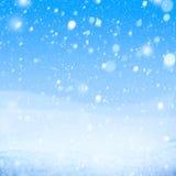Fondo del azul de la nieve del arte que cae imágenes de archivo libres de regalías