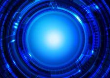 Fondo del azul de la tecnología Fotos de archivo libres de regalías
