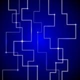 Fondo del azul de la tecnología Imagen de archivo libre de regalías