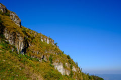 Fondo del azul de Mountian Fotografía de archivo