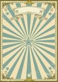 Fondo del azul del certificado del vintage stock de ilustración