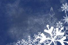 Fondo del azul del copo de nieve Foto de archivo