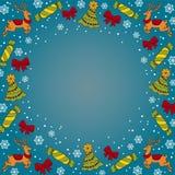 Fondo del azul del dak de la Navidad Foto de archivo