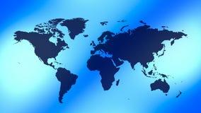 Fondo del azul del mapa del mundo