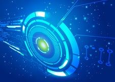 Fondo del azul del vector de espacio de la tecnología Fotos de archivo libres de regalías