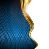 Fondo del azul y del oro Imagenes de archivo