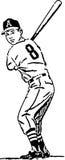 Fondo del béisbol batter Imágenes de archivo libres de regalías