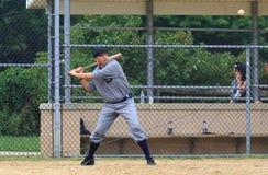 Fondo del béisbol batter Fotos de archivo