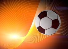 Fondo del balón de fútbol Fotografía de archivo