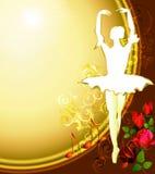 Fondo del ballerino di balletto Fotografie Stock