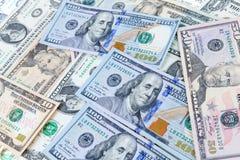 Fondo del banco del dólar Fotografía de archivo libre de regalías