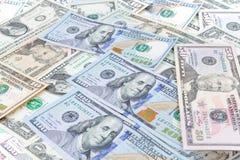 Fondo del banco del dólar Foto de archivo libre de regalías
