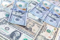 Fondo del banco del dólar Imágenes de archivo libres de regalías