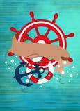 Fondo del barco o de la nave ilustración del vector