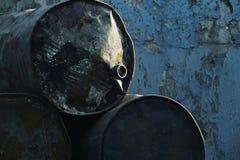 Fondo del barril de aceite Foto de archivo