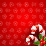 Fondo del bastoncino di zucchero di Natale Fotografia Stock
