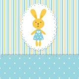 Fondo del bebé con el conejo Foto de archivo libre de regalías